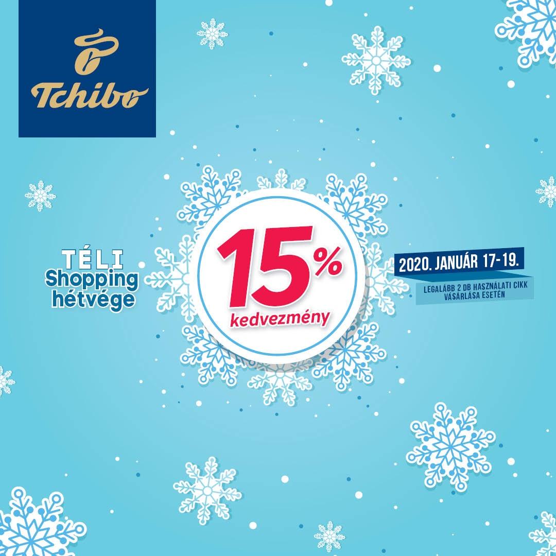 ❄ Téli Shopping Hétvége 15% kedvezmény