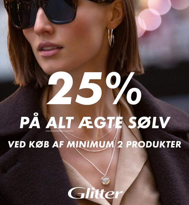 25% på ALT ægte sølv