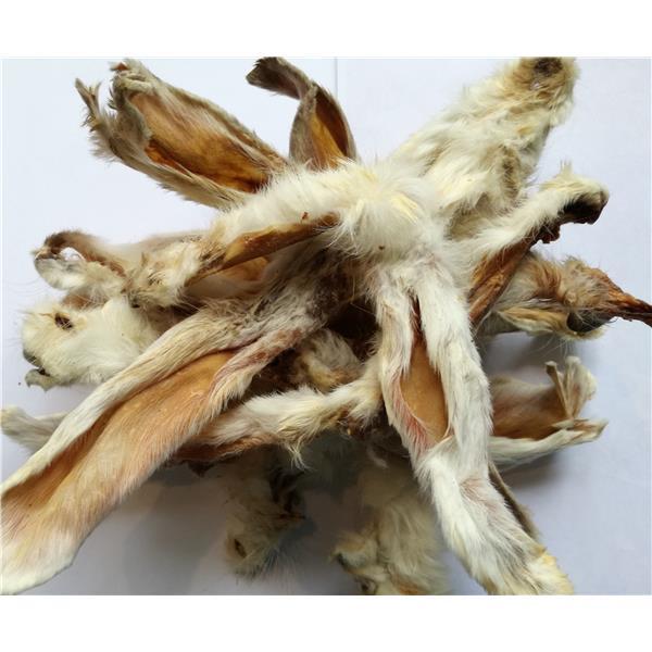 Kaninører m/pels 100g