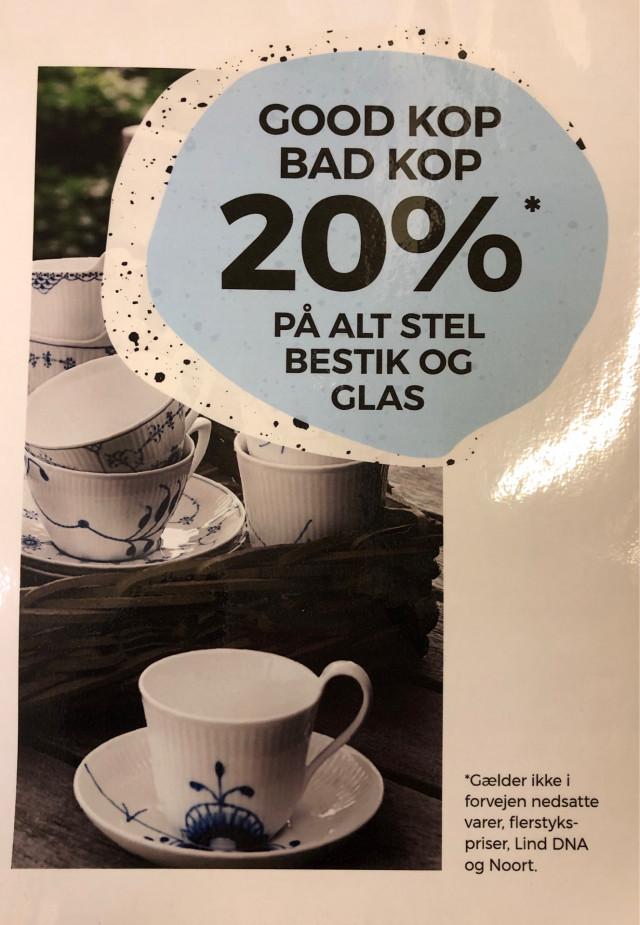 Få 20%* på alt stel, bestik og glas i Bahne