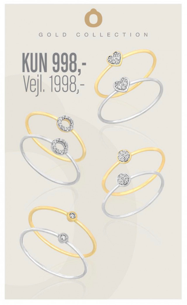 Vibholm - Gold Collection ringe