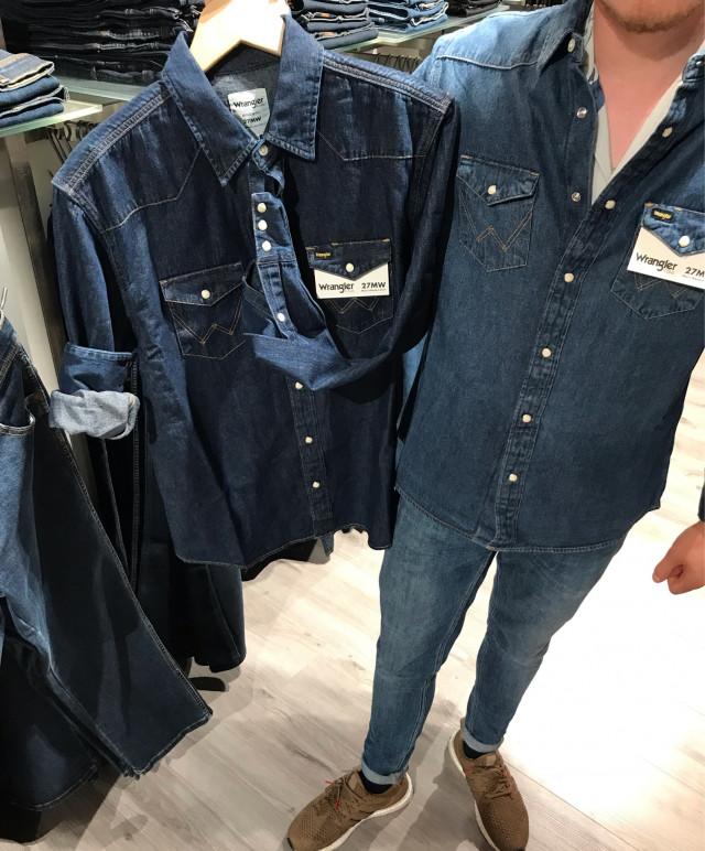 👔 Wrangler Denim Cowboy Skjorte