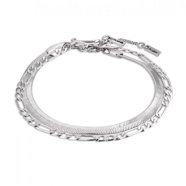 Sølvbelagt armbånd 💙