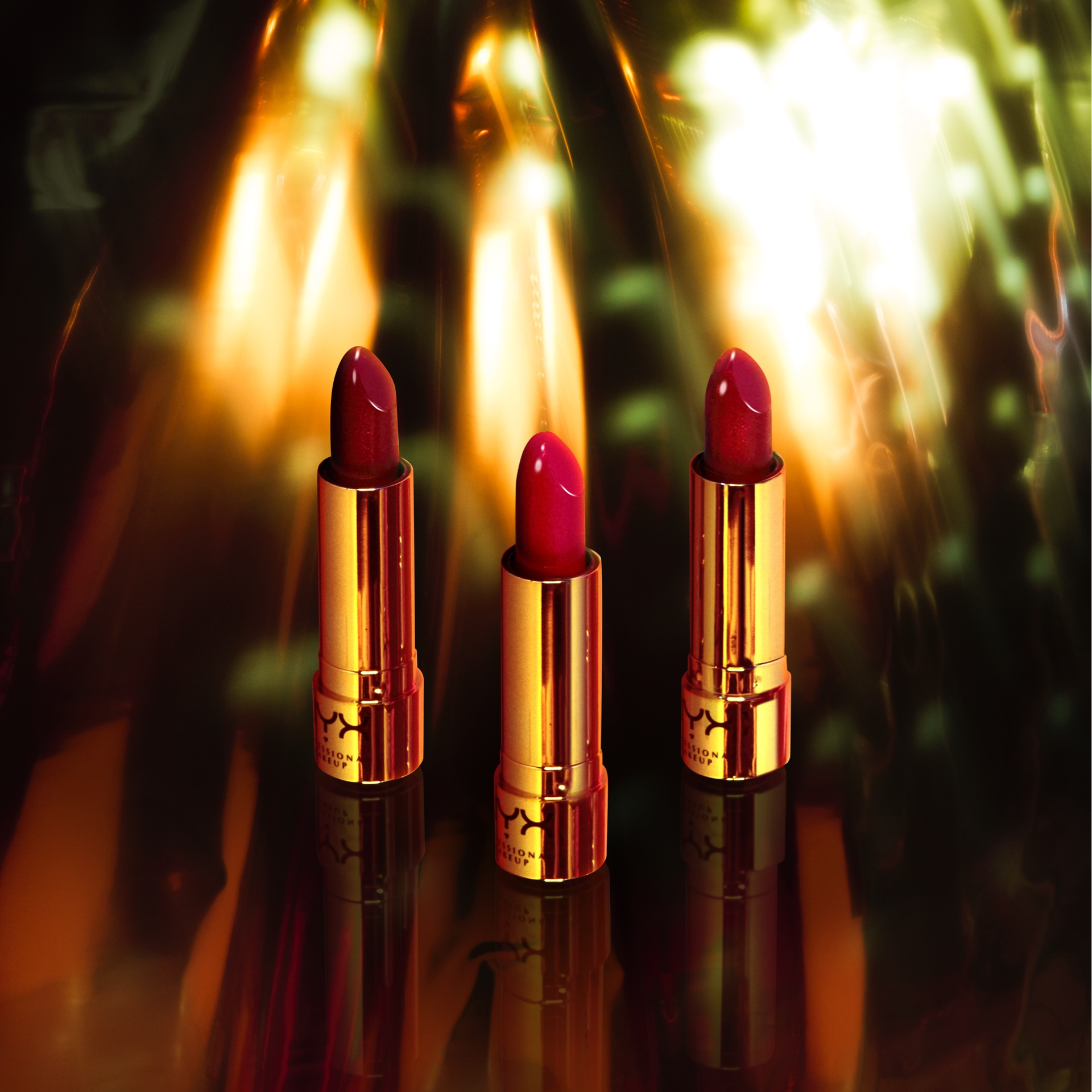 Satin Cream Lipstick, Sparkle Lipstick, Metallic Topper